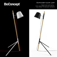 Boconcept Outrigger Floor Lamp Black and White 3D Model