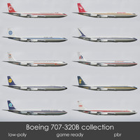 Boein 707-320B low-poly collection