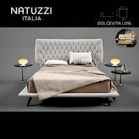 Natuzzi Dolcevita L01 Bed With Accessories