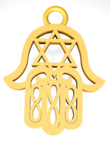 Star of david Hamsa