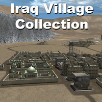 middle arab town city 3d obj