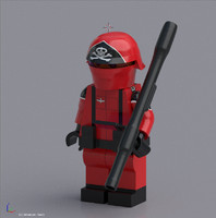 Red Shadow Lego Minifigure