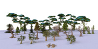 Low Poly Tree Collection
