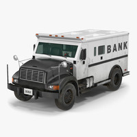 3d bank armored car 2 model