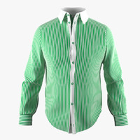 Shirt With Green Stripe