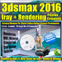 Iray + 3ds max 2016 Rendering Guida Completa Rinnovo Subscription