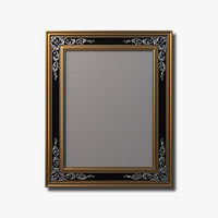 Engraved Mirror with Antiqued Glass