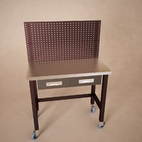 Workbench table With PegBoard