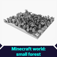 Minecraft small forest