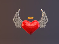 Low Poly Angel Heart