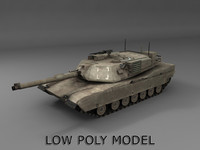 Low poly Abrams tank
