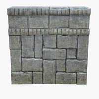 tileable stone wall 3d model