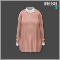 Sweater Pink with Shirt