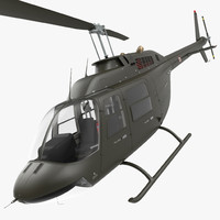 Bell 206 JetRanger Italian Army Rigged