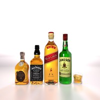 Whiskey bottles collection
