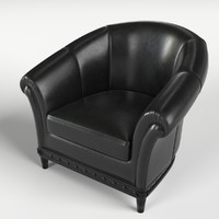 3d chesterfield armchair 5