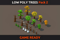 Low poly Trees Pack 2