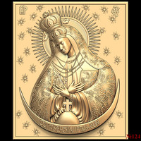 (124) 3d STL Model Religion Icon for CNC Router 3D Printer Aspire Cut3d Artcam