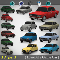 14 in 1 ( Low-Poly Game car )