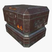 Armored Crate - Game Ready PBR