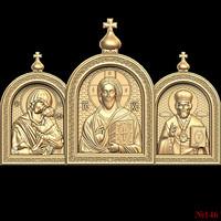 (146) 3d STL Model Religion Icon for CNC Router 3D Printer Aspire Cut3d Artcam
