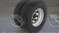 truck rim and tire