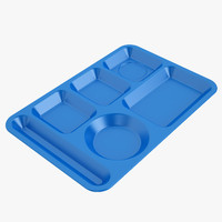 Lunch Food Tray 01 Blue
