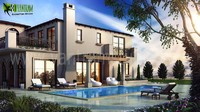 3d Exterior Design Pool View