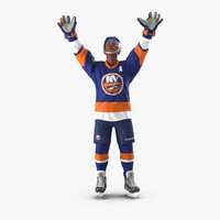 Hockey Player Islanders Rigged