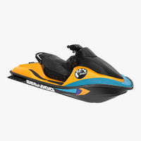 Jet Ski Sea-Doo 2 Rigged