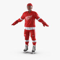 Hockey Player Detroit Red Wings