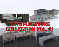 Patio Furniture Collection Vol.01