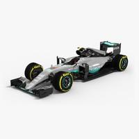 Mercedes F1 W07 Hybrid Car