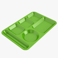 Lunch Food Tray 01 Green