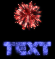 Fireworks text 2