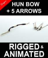 Hun bow & arrows