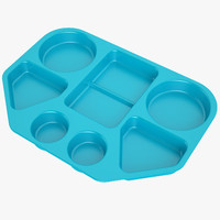 Lunch Food Tray 02 Blue