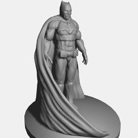 batman sculpture 3d obj