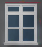 Transom over two operating window
