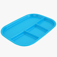 Lunch Food Tray 03 Blue
