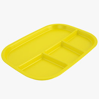 Lunch Food Tray 03 Yellow