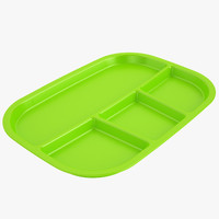 Lunch Food Tray 03 Green