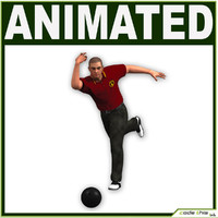 Bowling Player CG