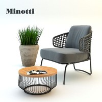 Garden armchair set