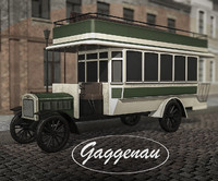 Benz-Gaggenau C40 old bus