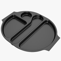 Lunch Food Tray 04 Black