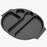 Lunch Food Tray 04 Black