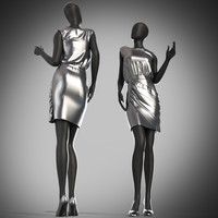 Mannequin metallic silver mini dress