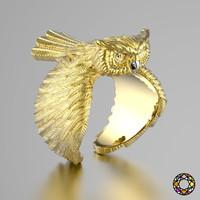Owl fashion ring 0156