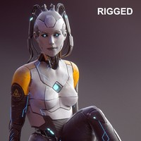 max sci-fi female android character